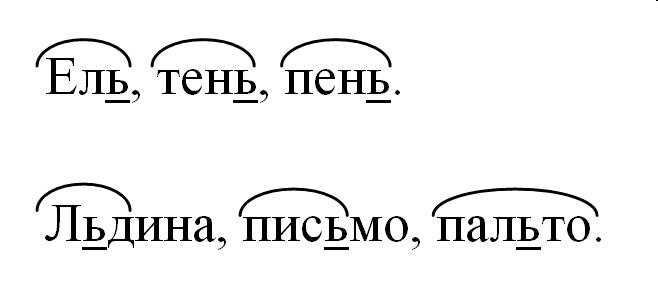 слова с знаком на конце и в середине